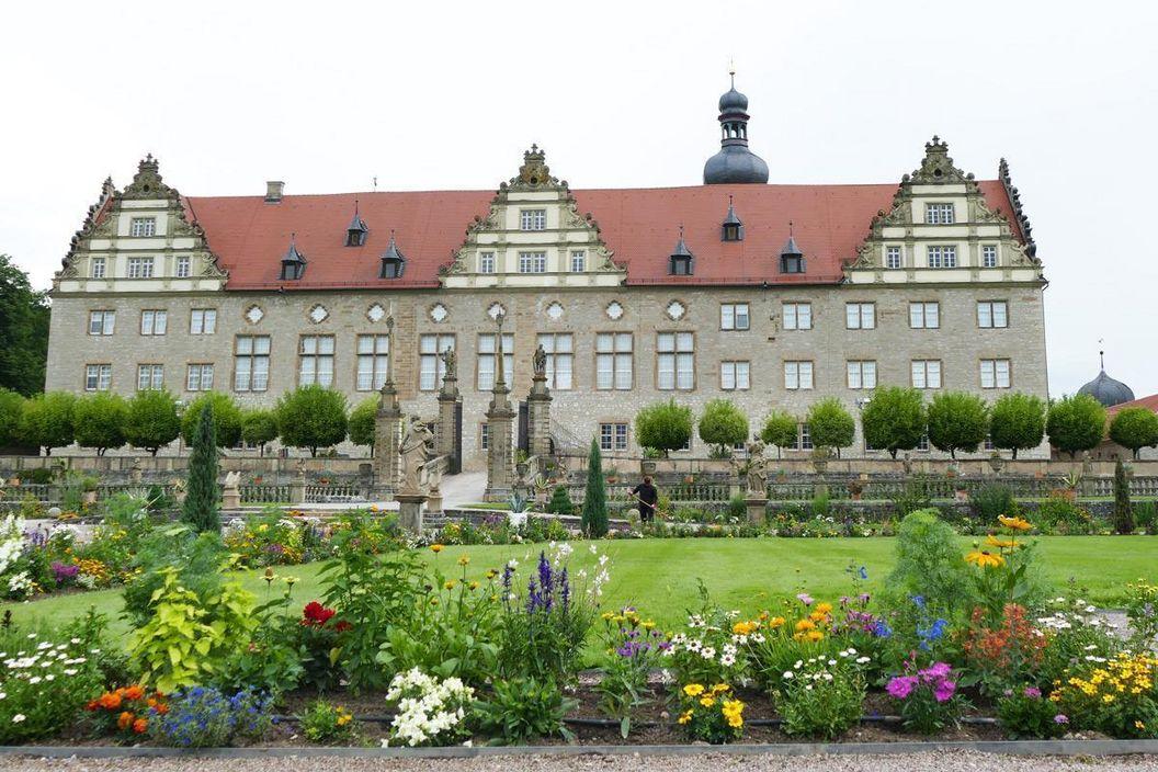 Rabatte im Weikersheimer Schlossgarten am 30. Juni 2016