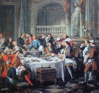 Jean-François de Troy, Das Austernfrühstück, Öl auf Leinwand, 1735
