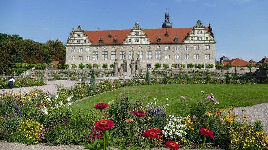 Rabatte im Weikersheimer Schlossgarten am 9. September 2016