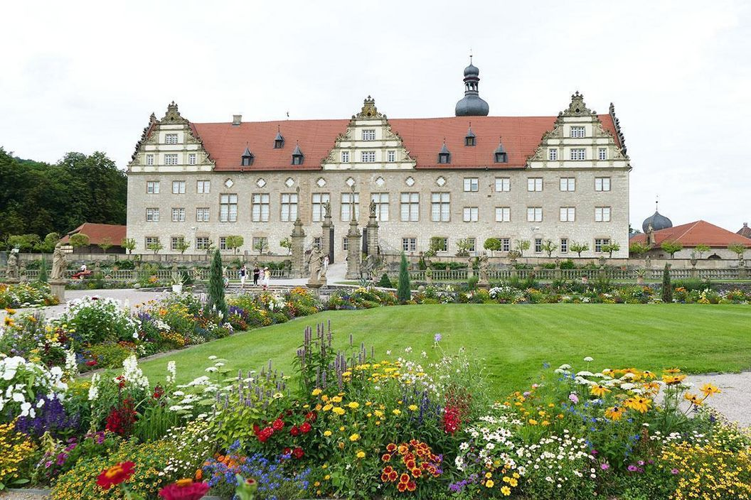 Rabatte im Weikersheimer Schlossgarten am 5. August 2016