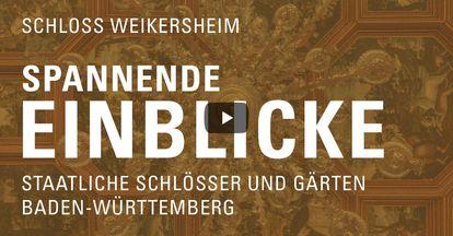 """Startbildschirm des Filmes """"Spannende Einblick mit Michael Hörrmann: Schloss und Schlossgarten Weikersheim"""""""