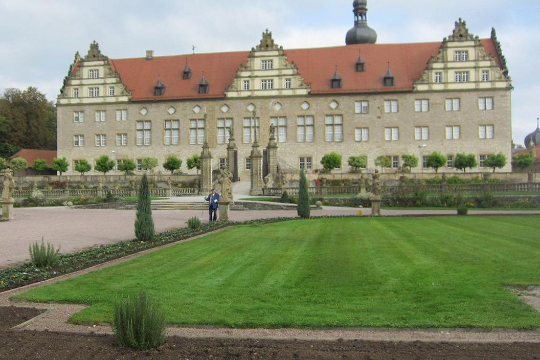 Rabatte im Weikersheimer Schlossgarten am 14. Oktober 2016